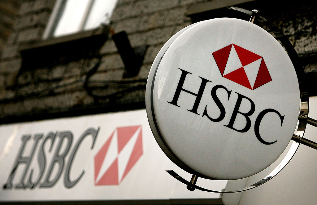 圖為匯豐銀行(HSBC)。(Getty Images)