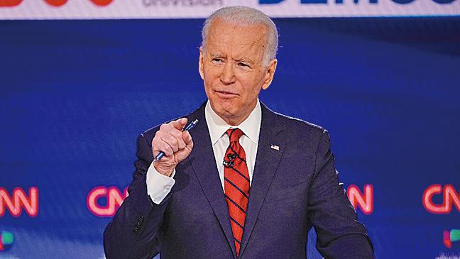 美國前副總統、2020年民主黨總統候選人拜登(Joe Biden)。(AFP)