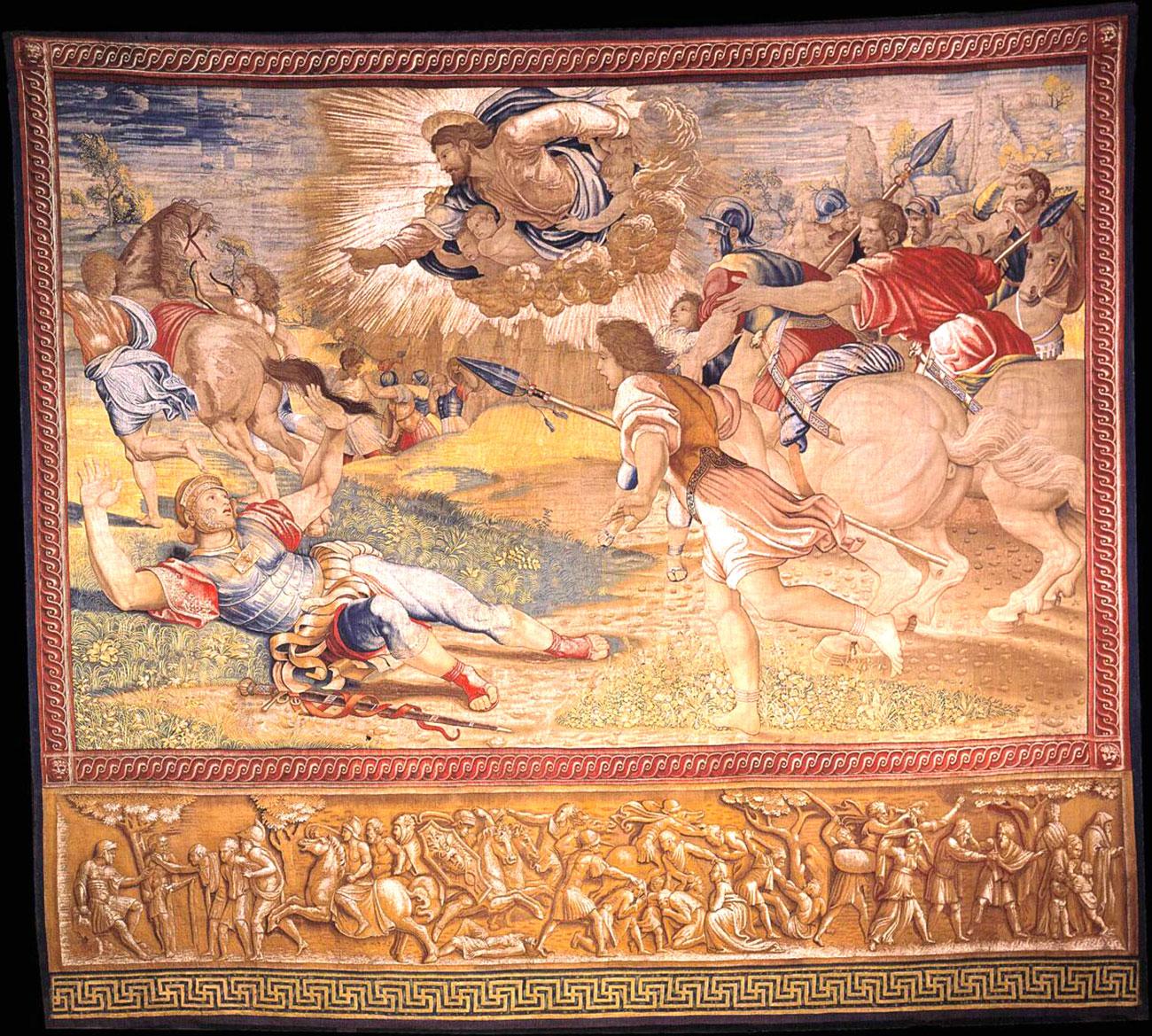 《使徒行傳》九章3-5節中的故事《掃羅的皈依》(The Conversion of Saul),1517~1519。
