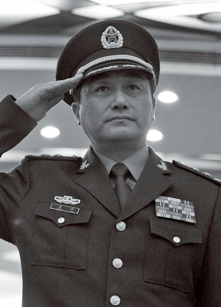 2020年4月26日,中國武警部隊司令王寧向中國人大常委會會議作《武警法》修訂草案說明。圖為武警司令王寧。(Getty Images)
