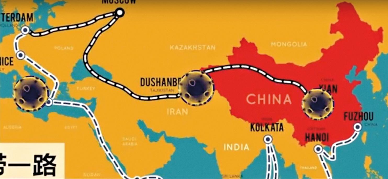 中共病毒沿著「一帶一路」進入歐、亞國家。(大紀元)