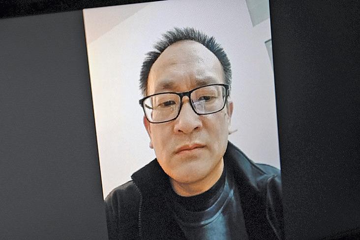 4月23日,身在濟南的王全璋律師通過電腦影片和家人通話。(GettyImages)