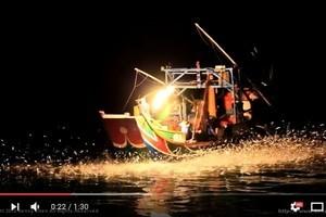 台灣北海岸傳統技法 蹦火船以火捕魚