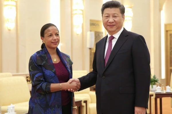 隨著中美關係受到海牙裁決的考驗,美國國家安全顧問蘇珊・賴斯7月25日告訴中國領導人習近平,中國和美國應該坦率處理分歧。(HOW HWEE YOUNG/AFP/Getty Images)