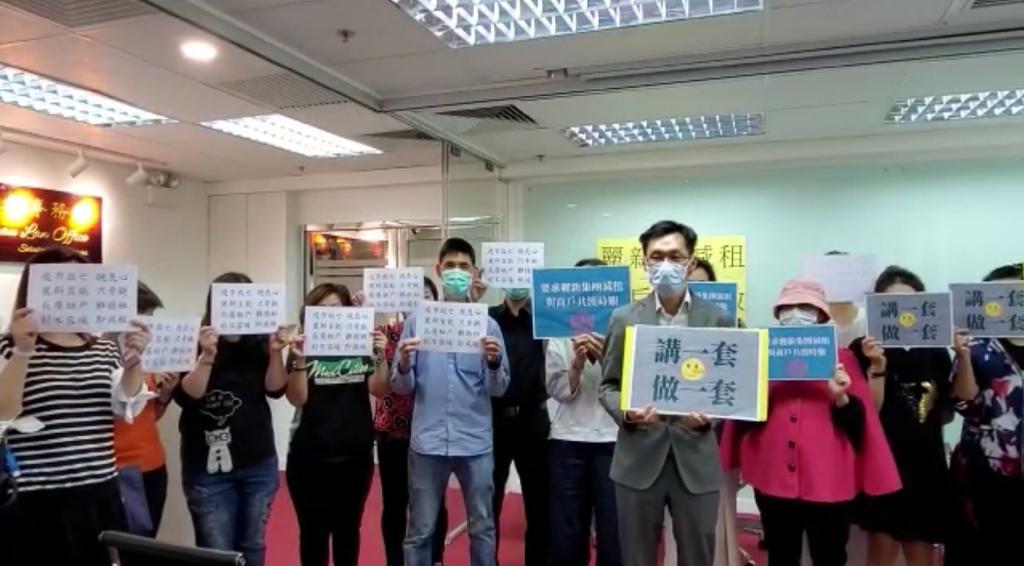 面對疫情經營困難,小商戶仍逆流而上,希望能於香港人一起齊心協力,力爭扭轉局勢,走出困局。(張旭顏/大紀元)