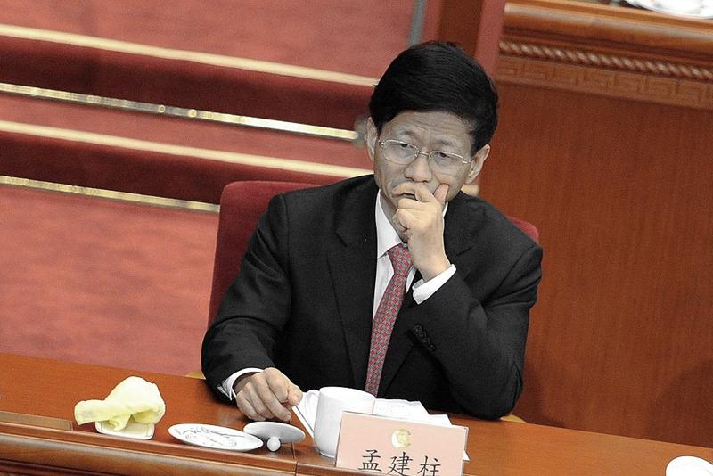 5月2日,網上傳出重磅消息,指江派大員中共前政法委書記、政治局委員孟建柱被抓。 (WANG ZHAO/AFP via Getty Images)
