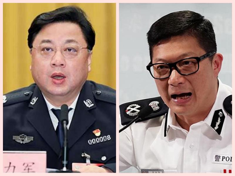 香港警務處處長鄧炳強頂頭上司孫力軍被抓,顯示中南海權鬥風暴已震動香港。(合成圖片)