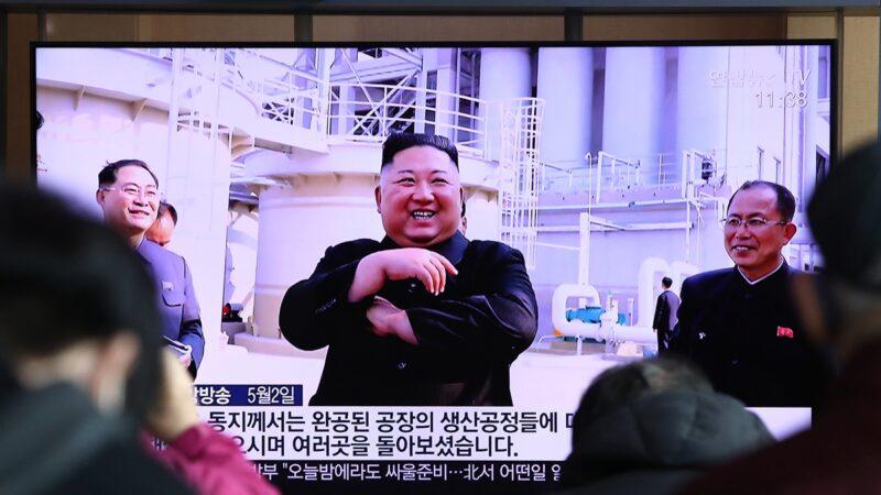 全球聚焦金正恩的生死狀況之際,他1日突然現身,引起人們對其真身替身的議論。(Chung Sung-Jun/Getty Images,)
