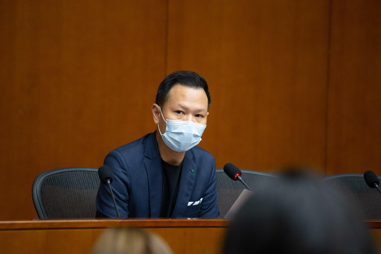 郭榮鏗表明會繼續主持內會會議,他又不認同立法會主席就內會情況,尋求外間資深大律師意見。(公民黨提供)