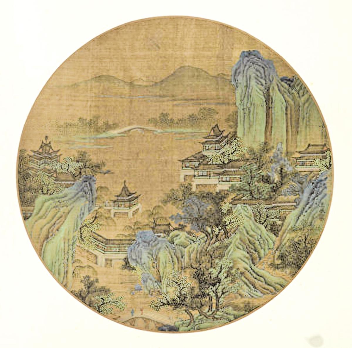 元人繪《杭州西湖圖》(公有領域)