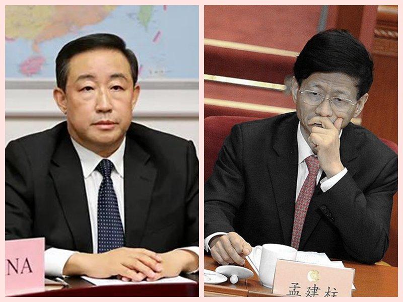 中共兩會前夕,網傳孟建柱(右)被抓, 傅政華(左)被軟禁。(合成圖片)