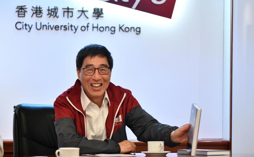 城大內閣集體決定,校長不參加董建華和梁振英近來發起的「大聯盟」。圖為香港城市大學校長郭位。(網路資料)