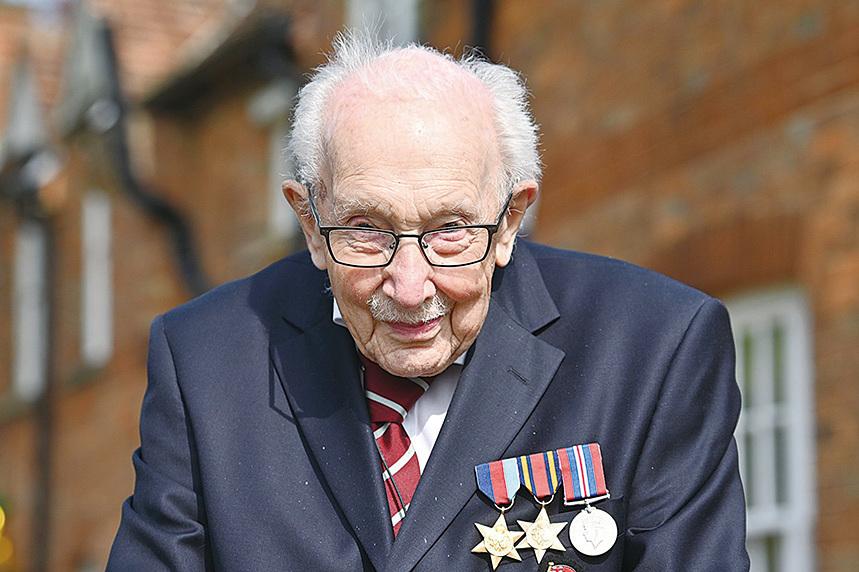 英國二戰老兵穆爾。(Getty Images)