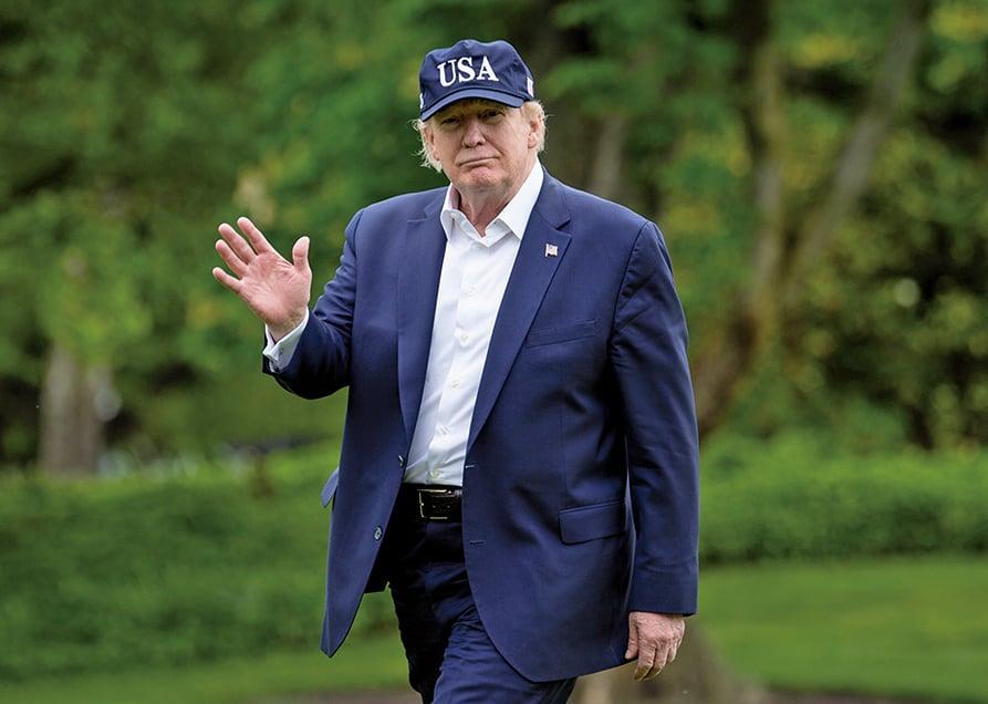 美國總統特朗普周三(5月6日)否決了國會削弱總統戰爭權力的決議案。(AFP)