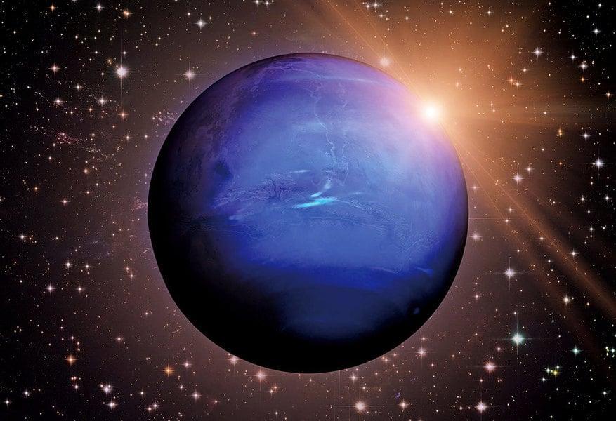 海王星上水和岩石結合成固體中間態