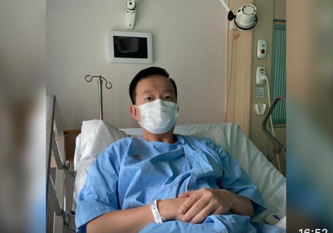 陳志全說,在醫院完成磁力共振後發現椎間盤突出。(陳志全提供)