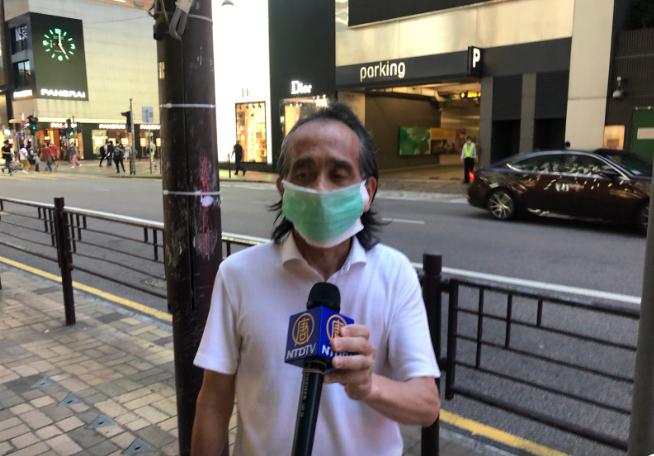 梁志洪先生已經入稟高等法院,指控「限聚令」違反《基本法》,他相信天滅中共即將到來。(梁珍/大紀元)