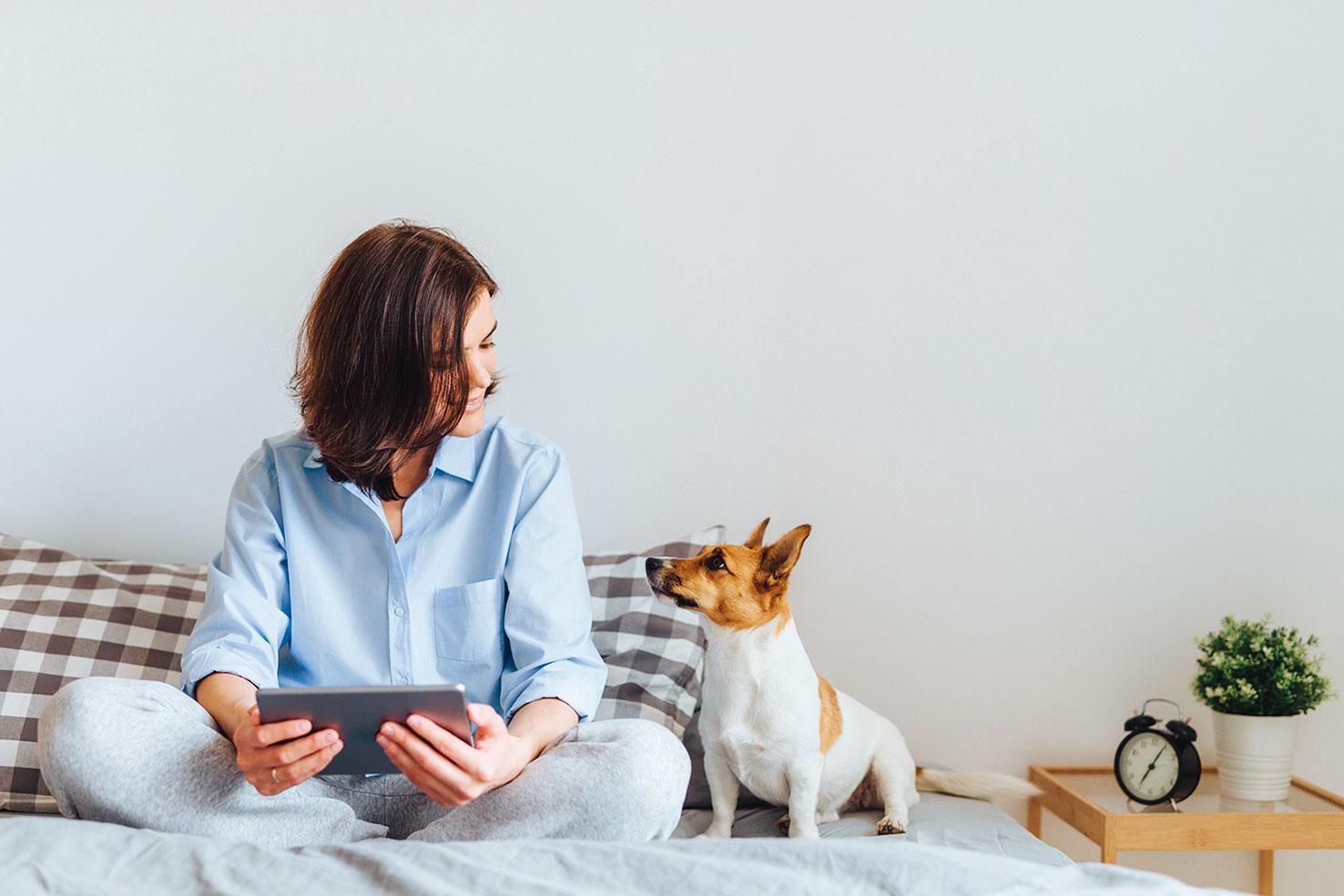 寵物是人類的好伴侶,但寵物也會感受到人的負面情緒。(Shutterstock)