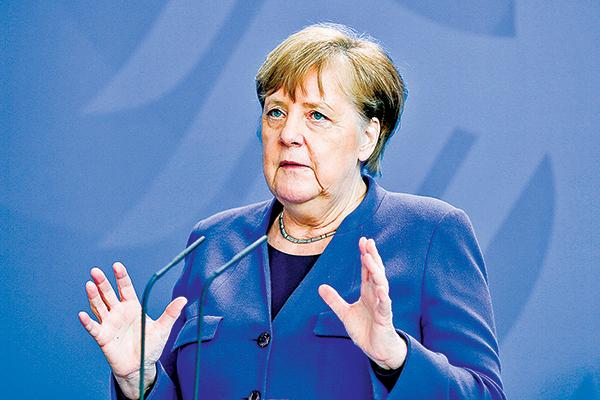 4月20日,德國總理默克爾在柏林總理府的新聞發佈會上呼籲,中方要用透明的態度面對病毒源頭的問題。(Getty Images)