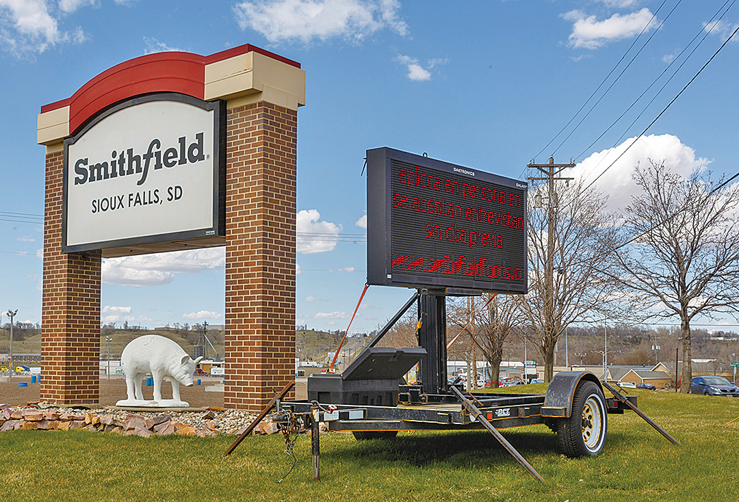 史密斯菲爾德食品公司是全美最大的豬肉食品商。在2013年,已被中國的萬洲國際集團全資收購。(AFP)