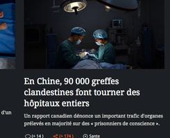 法國《費加羅報》報道中共活摘器官 震驚讀者