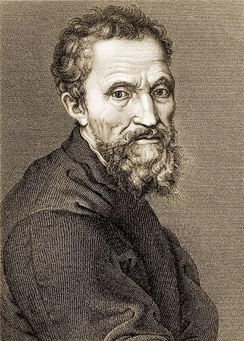 19世紀 Jean Louis Potrelle根據米開朗基羅(1475~1564年)自畫像刻的米開朗基羅像。(Shutterstock)