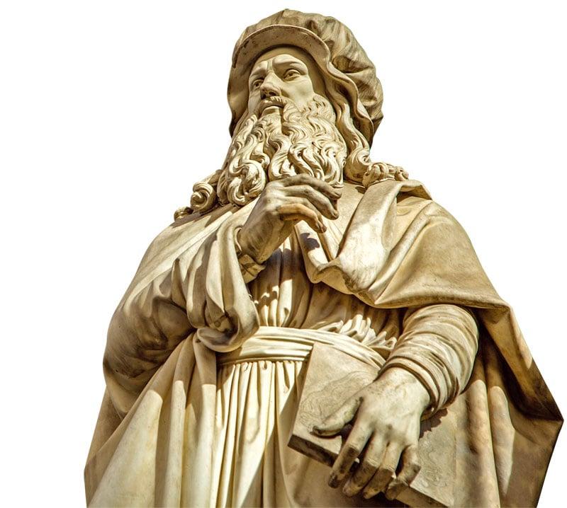 米蘭的達文西雕像。(Shutterstock)