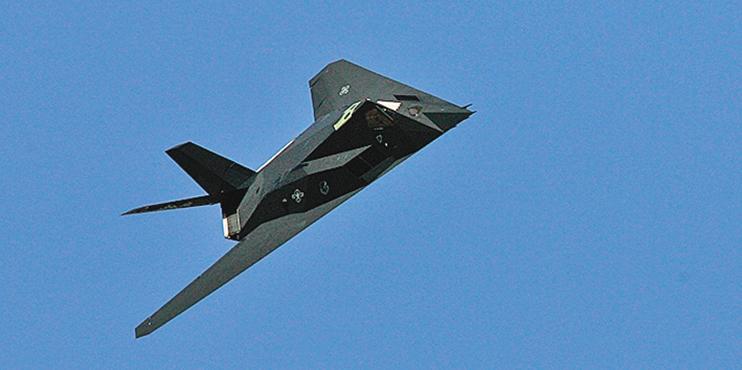 美軍F-117戰機飛行於內華達州上空。(Getty Images)