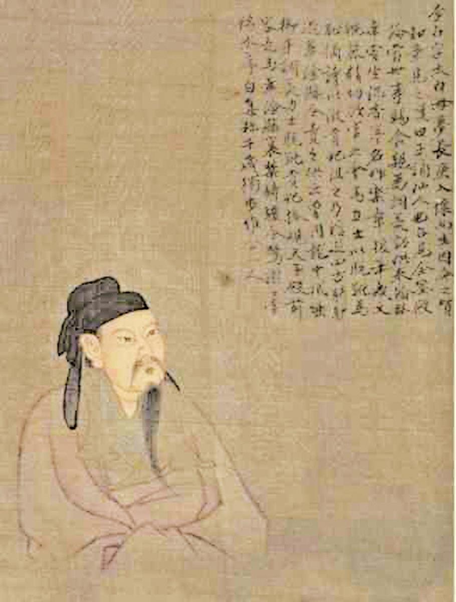 《歷代聖賢半身像‧李白》(公有領域)