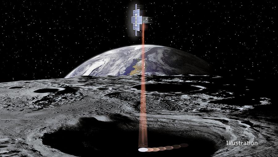 NASA使用月球電筒尋找冰塊