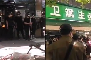 【現場影片】武漢衛斌生鮮店現無症狀感染者