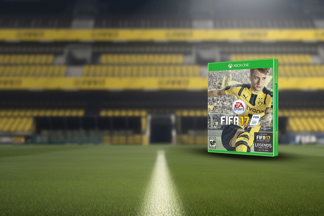 效力多蒙特球星馬高列奧斯(Marco Reus)以越310萬得票,成為《FIFA 17》的封面人物。(EA Sports)