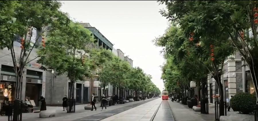 北京商業街杳無人煙