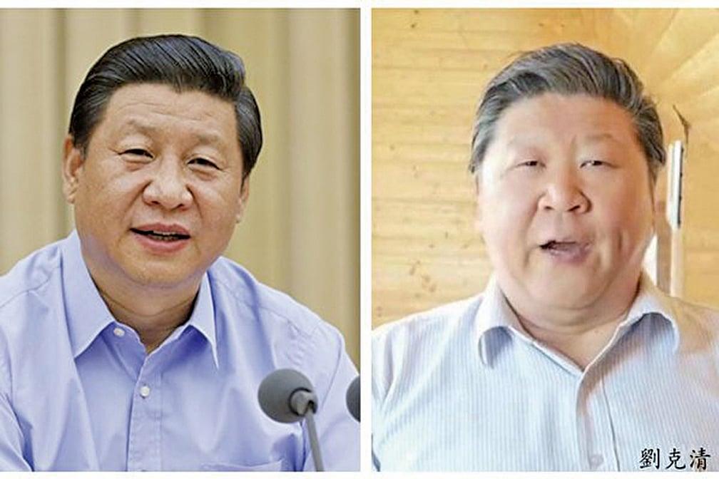 中國歌唱家劉克清因為長相太像中共領導人,遭到舉報,3次被封號。官方解釋為「形象違規」。(合成圖片)