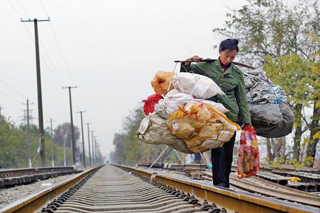 中共病毒重創大陸經濟,匯豐預計大陸今年GDP增幅下滑至1.7%。圖為資料照。(Getty Images)