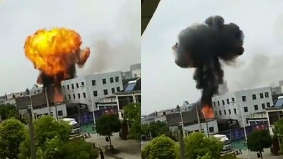 江蘇丹陽工廠發生大爆炸 威力強大驚見蕈狀雲