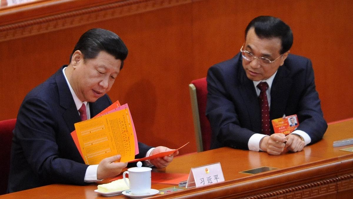 習近平15日主持政治局會議,專門討論政府工作報告。(WANG ZHAO/AFP/Getty Images)