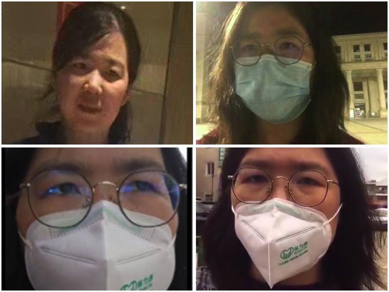公民記者張展在武漢因報道疫情真相遭拘留,被關押上海浦東新區看守所(大紀元合成圖)