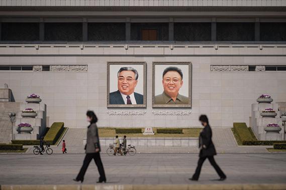 圖為金日成廣場。(AFP)