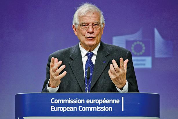 歐盟外交政策負責人何波瑞爾(Josep Borrell)5月15日敦促成員國要團結起來,應對中共。圖為波瑞爾。(AFP)
