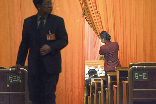 2017 年3 月北京兩會。(AFP)
