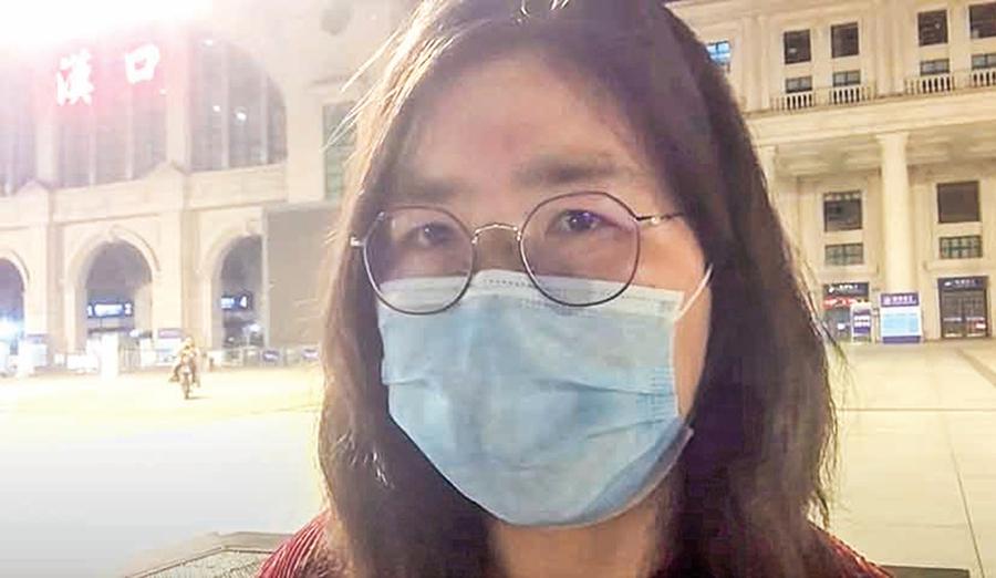 赴武漢女公民記者張展被抓