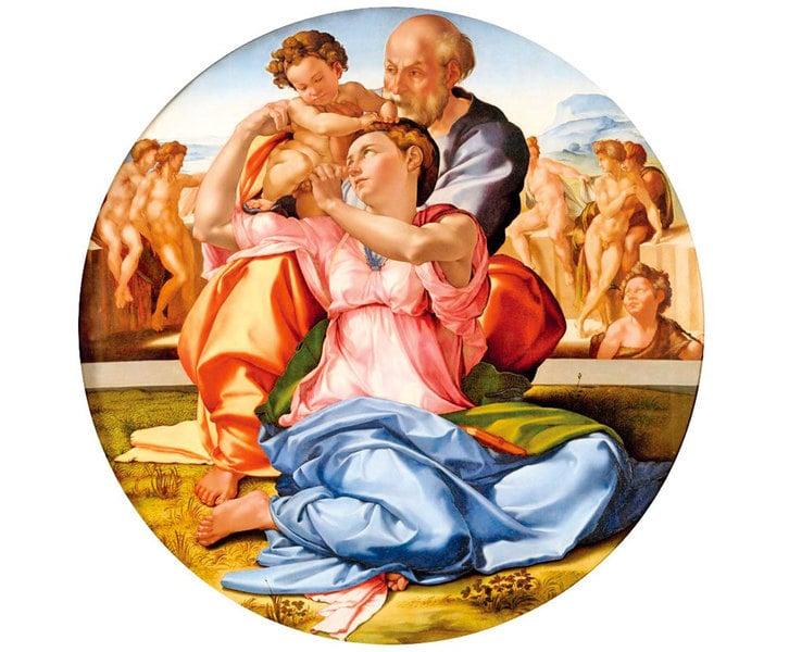 文藝復興巨匠米開朗基羅《聖家族》(五)
