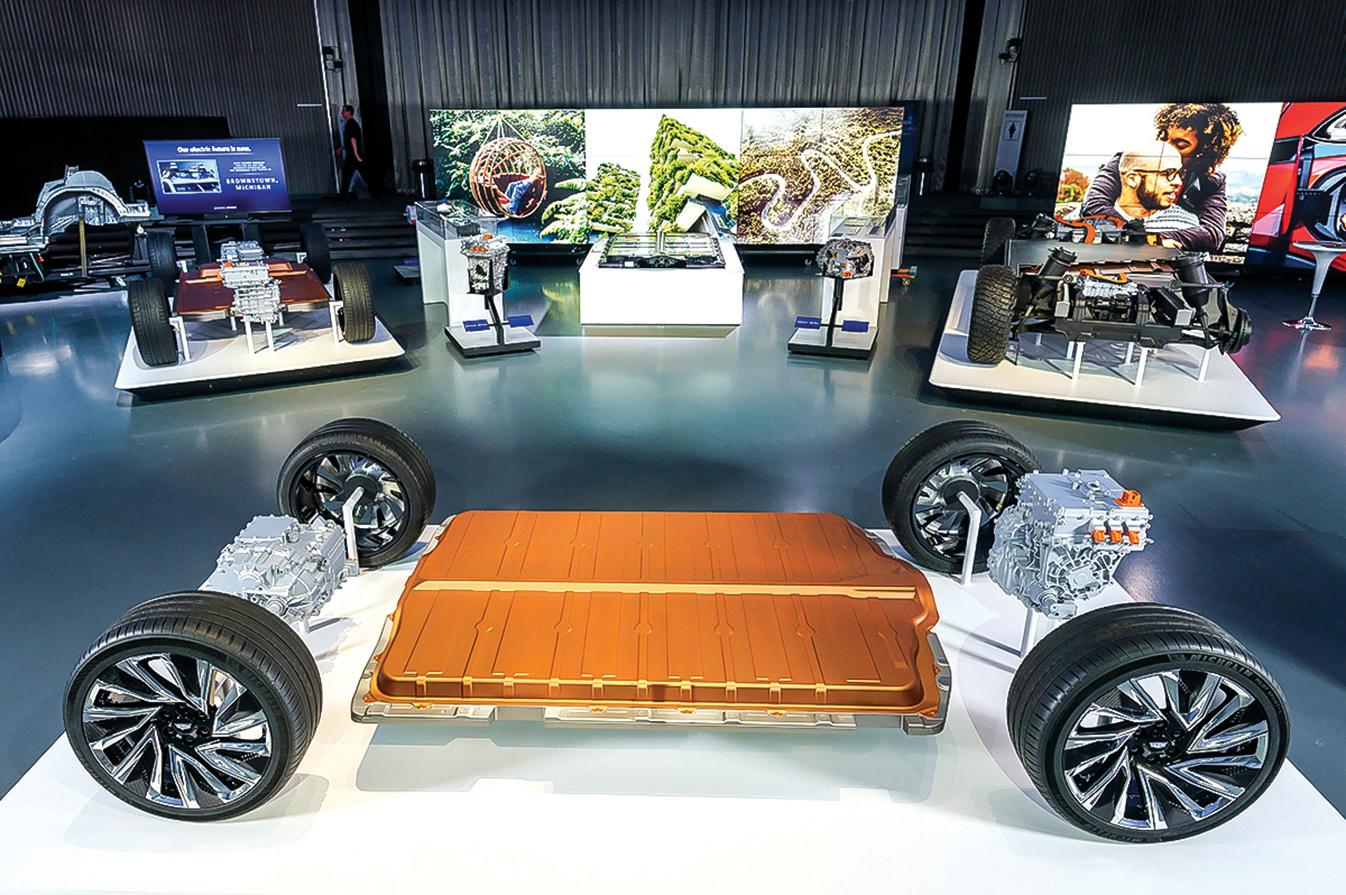 p通用汽車推出新的電池系統「Ultium」,號稱電池續航里程可達400英里或更多。(GM)