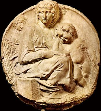 《碧提聖母》(1503~1505年),佛羅倫斯巴傑羅美術館收藏。(Sailko/Wikimedia commons)