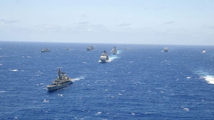圖為2002年的環太平洋軍演場面。(Mislinski/Getty Images)