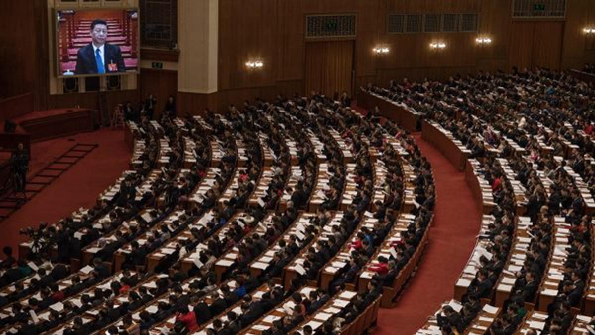 中共兩會即將召開,屆時如何論述香港問題,將成為焦點之一。(Kevin Frayer/Getty Images)