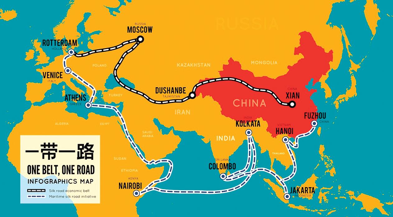 北京政權通過「一帶一路」倡議和其它的全球項目,將其地緣政治主導權和控制權擴大到遠遠超出了中國的國界。(Shutterstock)