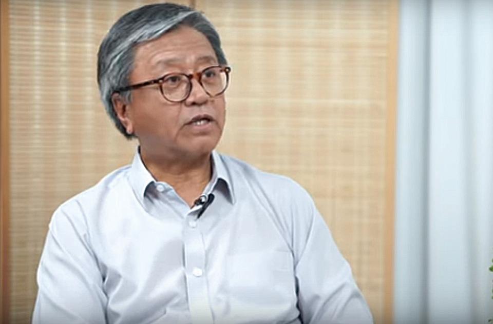 中文大學哲學系主任的張燦輝教授。(採訪影片截圖)