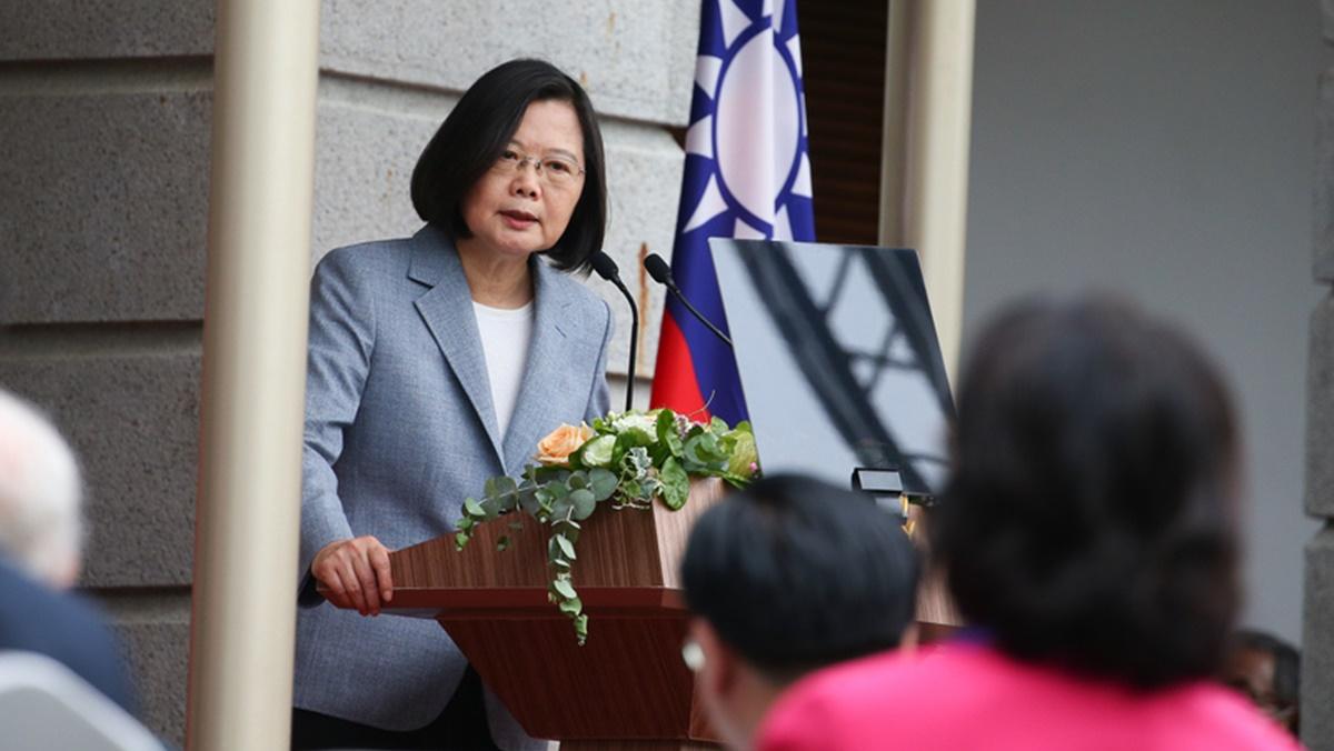總統蔡英文5月20日在台北賓館發表就職演說。(中央社)
